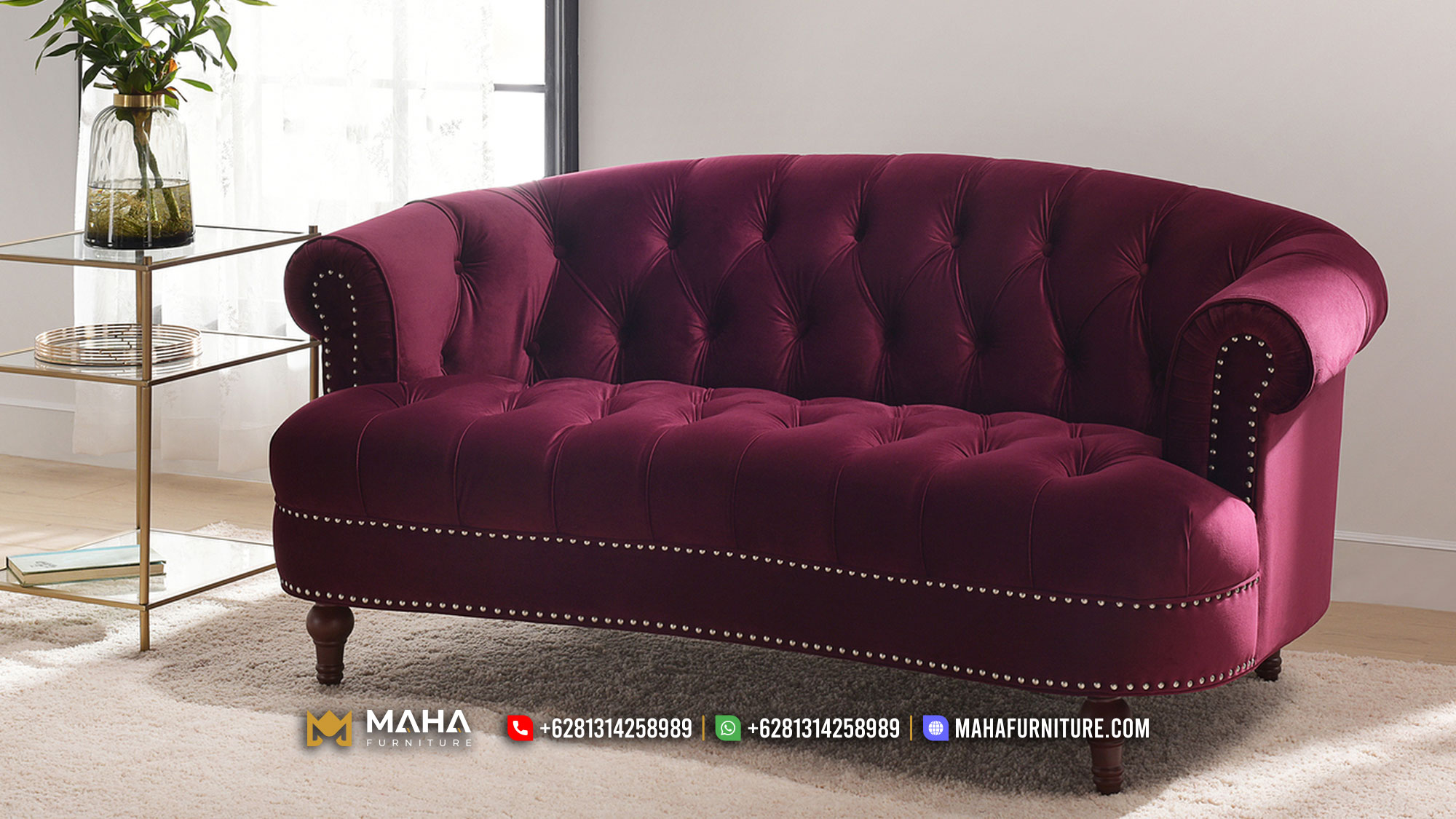 Sofa Minimalis Elegant Jepara Dreamy Magenta Color MF44