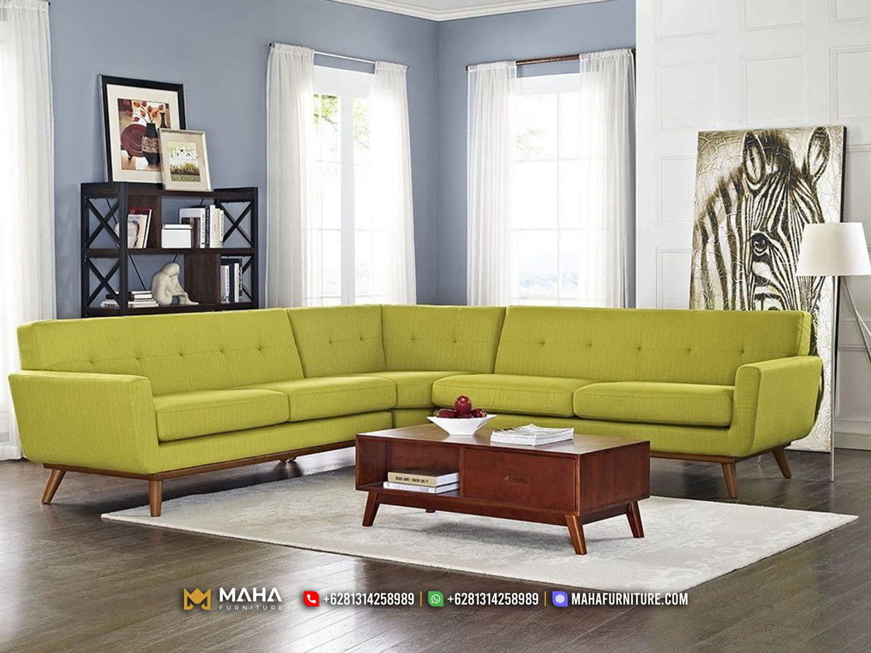 Sofa Model Sudut Minimalis Elegant Lemonade Exclusive MF229