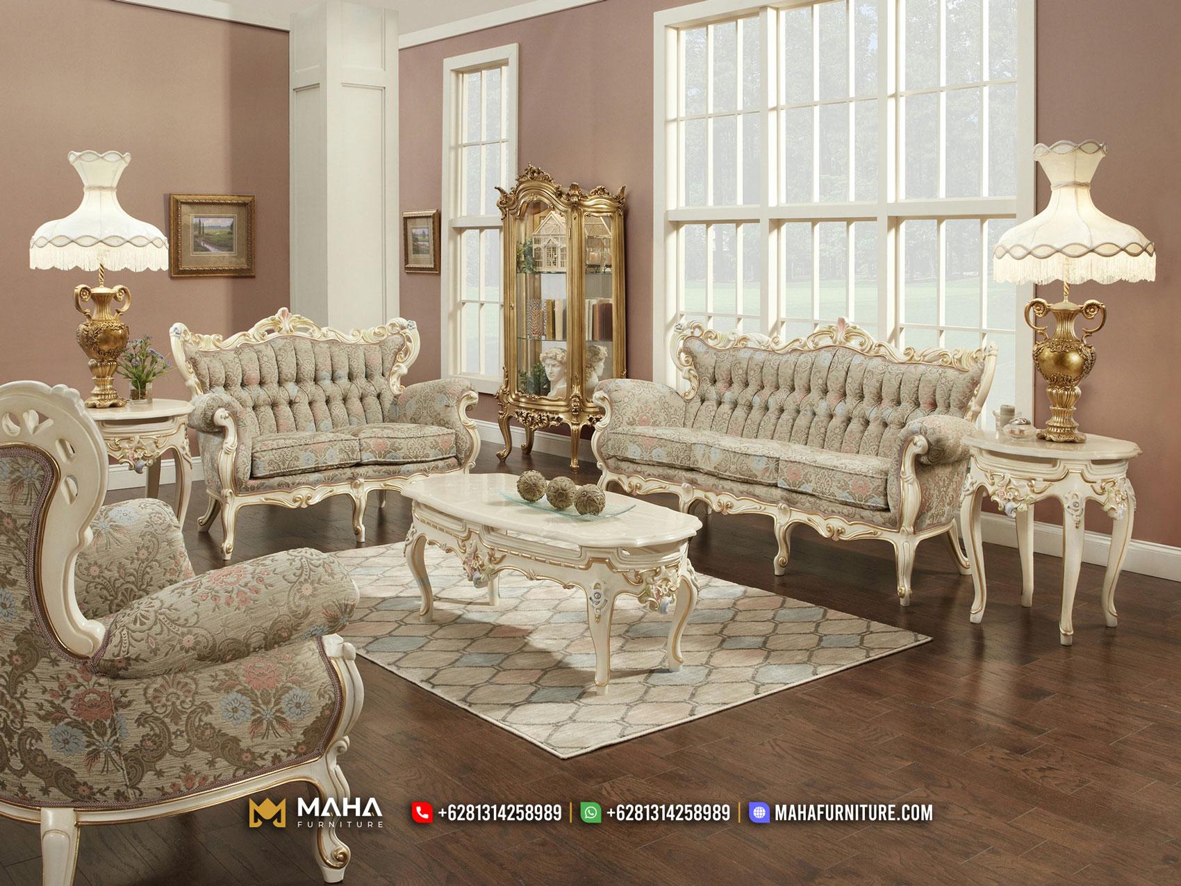 Sofa Ruang Tamu Ukir Mewah Jepara Glamorous Golden MF74