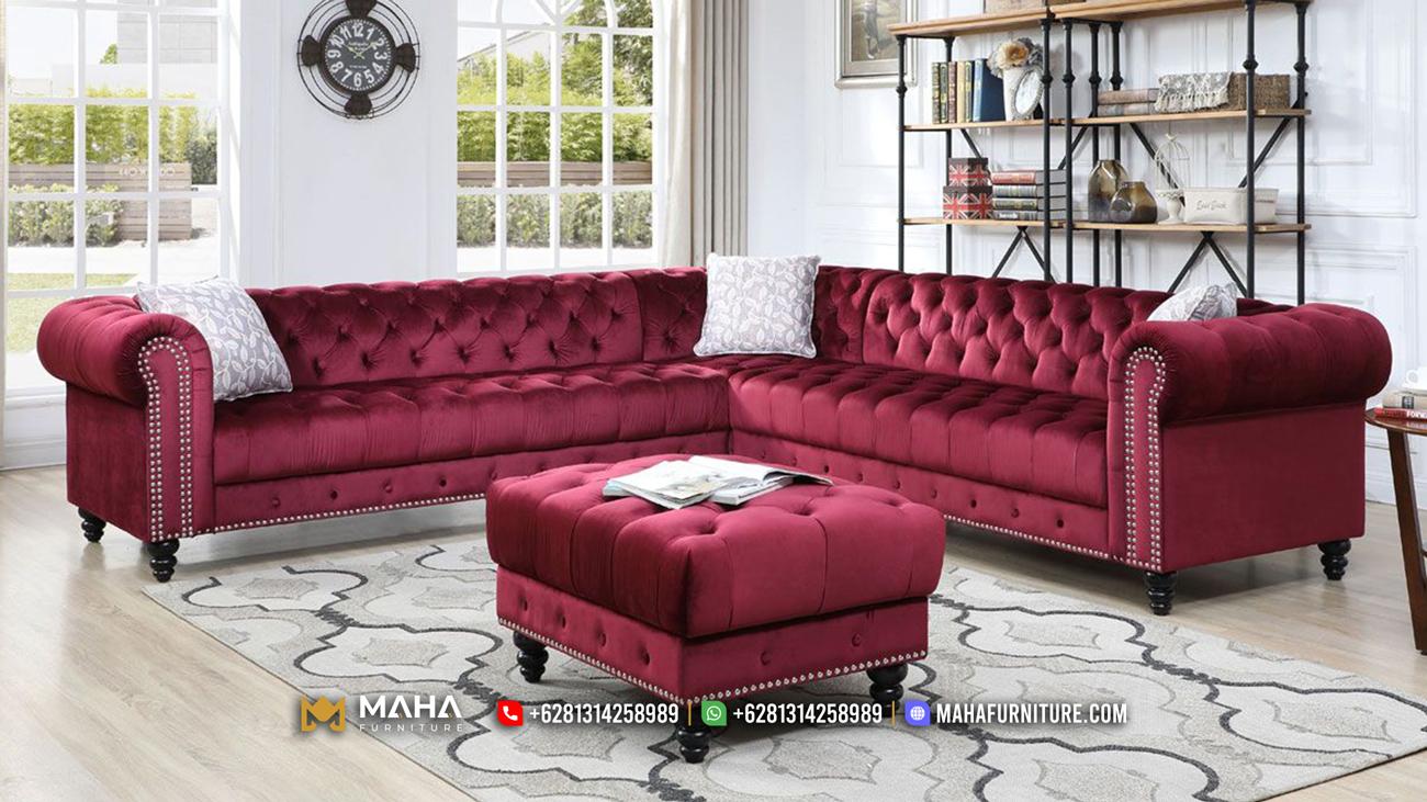 Sofa Tamu Jepara Mewah Terbaru 2021 Model Sudut Unique MF48
