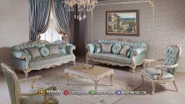 Sofa Tamu Mewah Jasmine Blue MF37