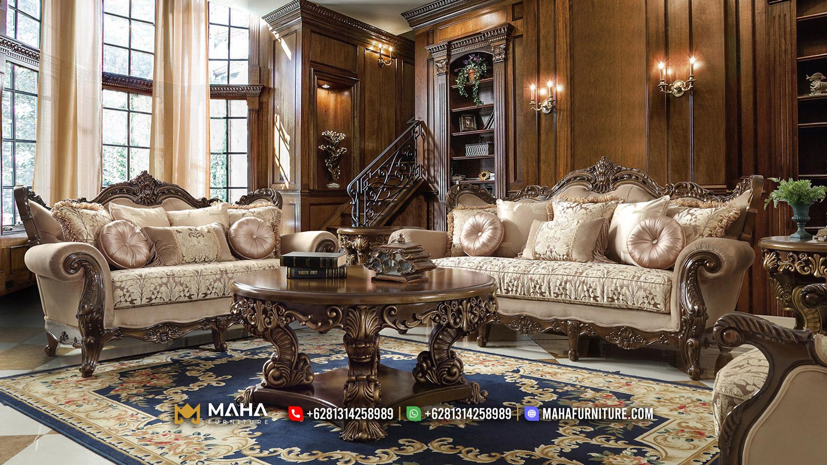 Sofa Tamu Mewah Jepara Ukir Terbaru Exclusive MF61