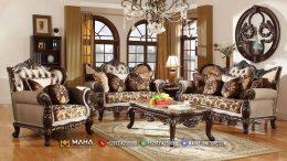 Sofa Tamu Mewah Klasik Jepara Luxury Carving New Majestic Style MF29