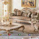Sofa Tamu Mewah Putih Kombinasi Emas Best Seller Luxury Royal Design MF23