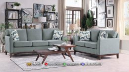 Sofa Tamu Minimalis Jepara Gray Leather Best Produk 2021 MF49