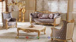 Sofa Ukir Jepara Golden Color Luxurious MF40