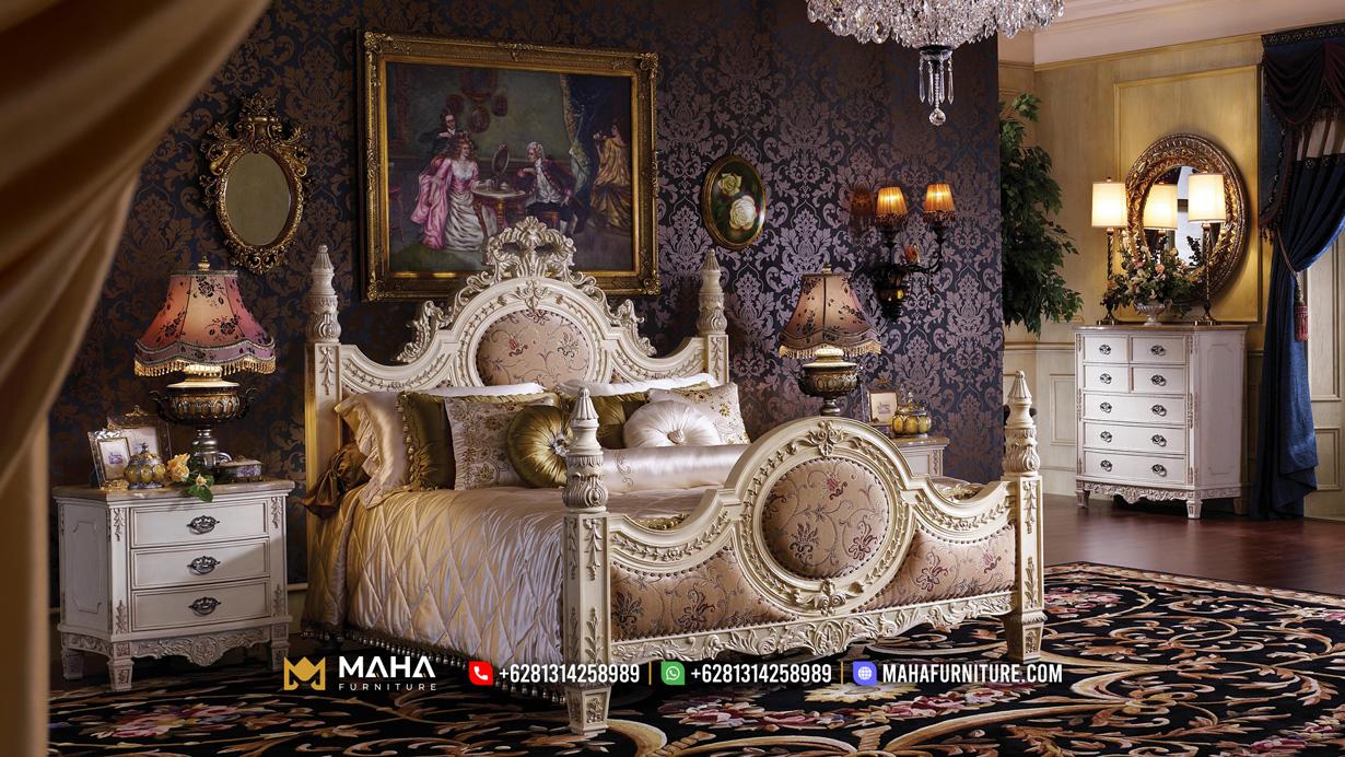 Tempat Tidur Mewah Terbaru Classic Glamorous Elizabeth MF202