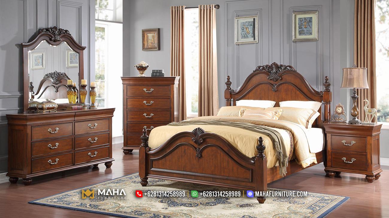 Terbaru Kamar Set Minimalis Ukiran Jepara Beautiful In Brown MF139
