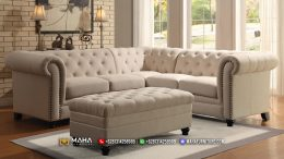 Terbaru Set Sofa Tamu Minimalis Chesterfield Exclusive Alabaster MF235