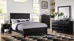 Terbaru Tempat Tidur Minimalis Black Elegan Luxury MF136