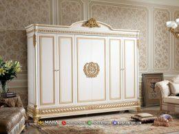 Aldarich Style Lemari Pakaian Baru 6 Pintu Glamorous Furniture MF325