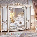 Beauty Aria Lemari Pakaian Jepara Carving Golden MF324