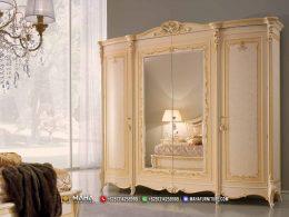 Charming Moccasin Lemari Pakaian Terbaru Jepara With Mirror MF334
