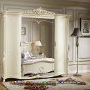 Desain Lemari Pakaian Carving Luxury White Duco Shabby Jepara MF335