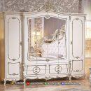Desain Lemari Pakaian Mewah Klasik Beauty White Daisy MF318
