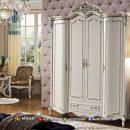 Desain Lemari Pakaian Minimalis Klasik 4 Elegant Carving MF333