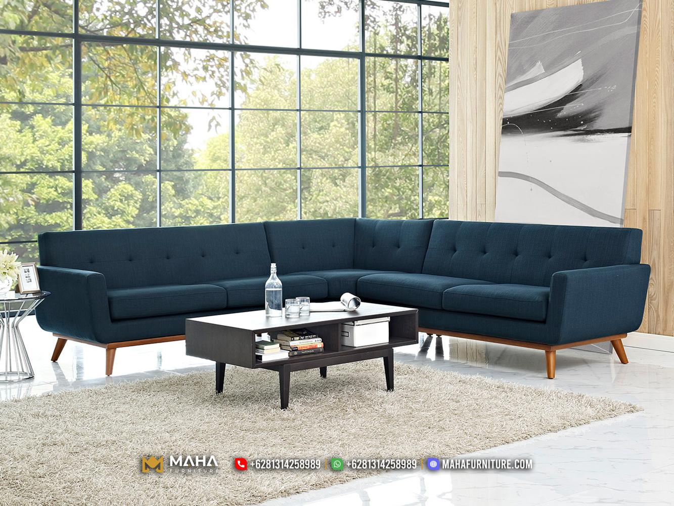 Desain Sofa Minimalis Jati Jepara Terbaru Excellent Denim MF255