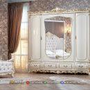 Harga Lemari Pakaian Carving Beauty Golden White MF323