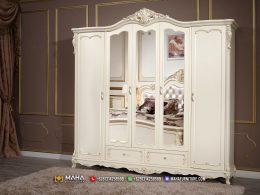 Harga Lemari Pakaian Mewah Klasik Ivory Great Quality MF326