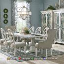 Harga Meja Makan Minimalis Terbaru Jepara Clear White Elegant MF270