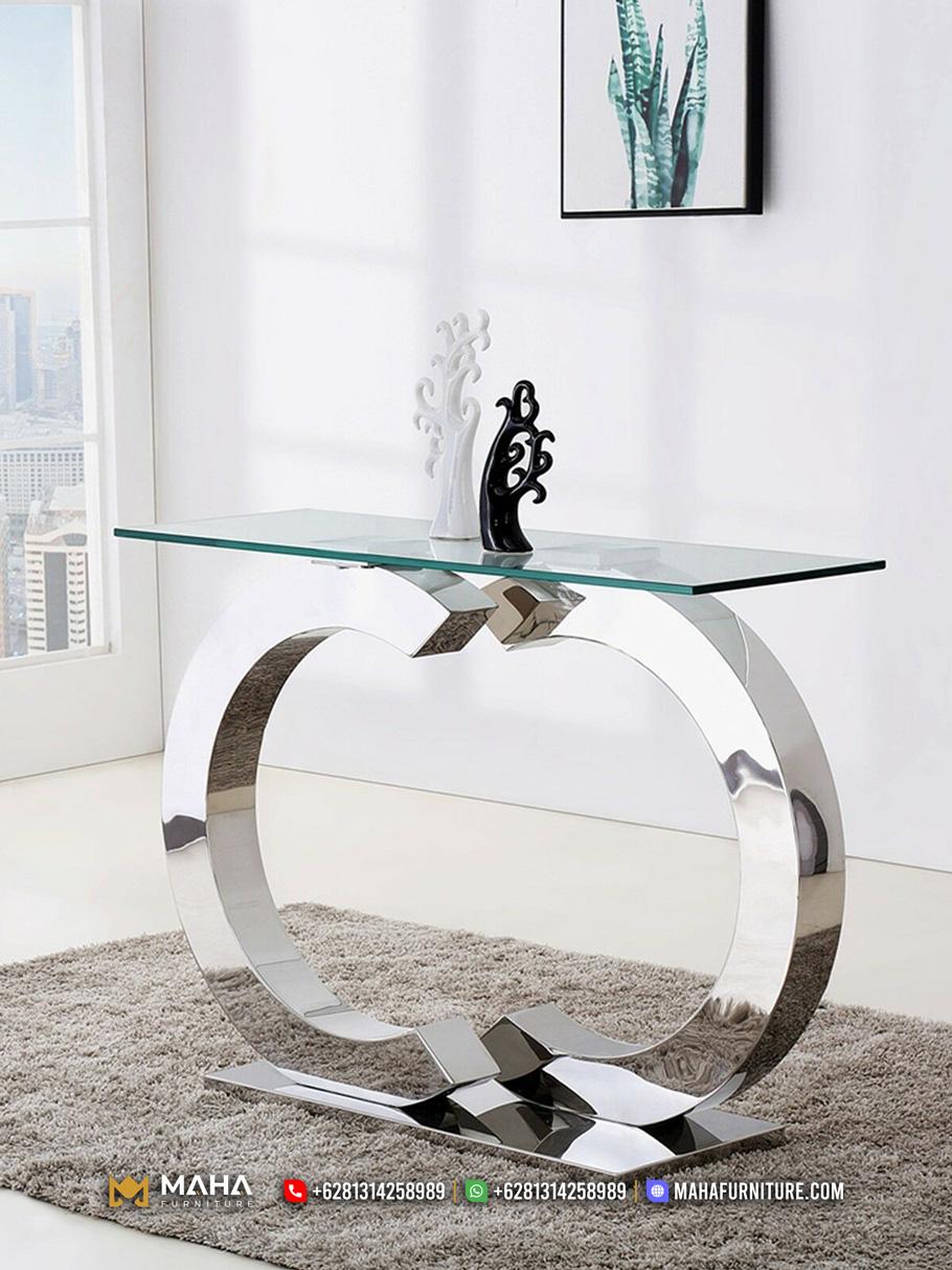 Inspirasi Meja Konsul Klasik Glamorous Shinning Silver MF278