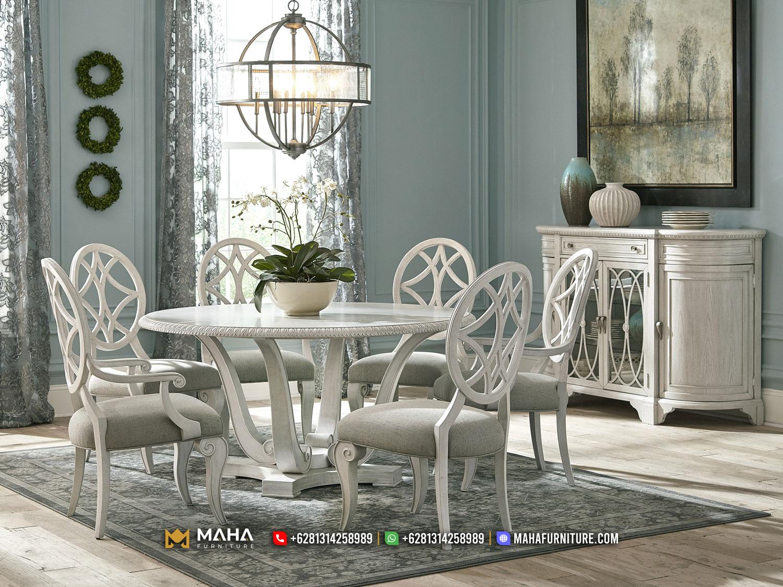Inspirasi Meja Makan Minimalis Jepara White Adney Beauty MF267