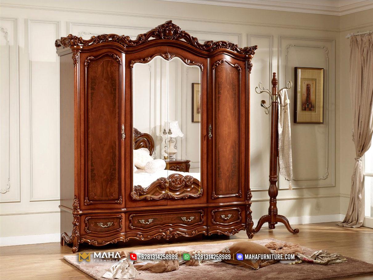Jual Lemari Pakaian Jati Terbaru Luxury Carving Best Price MF312