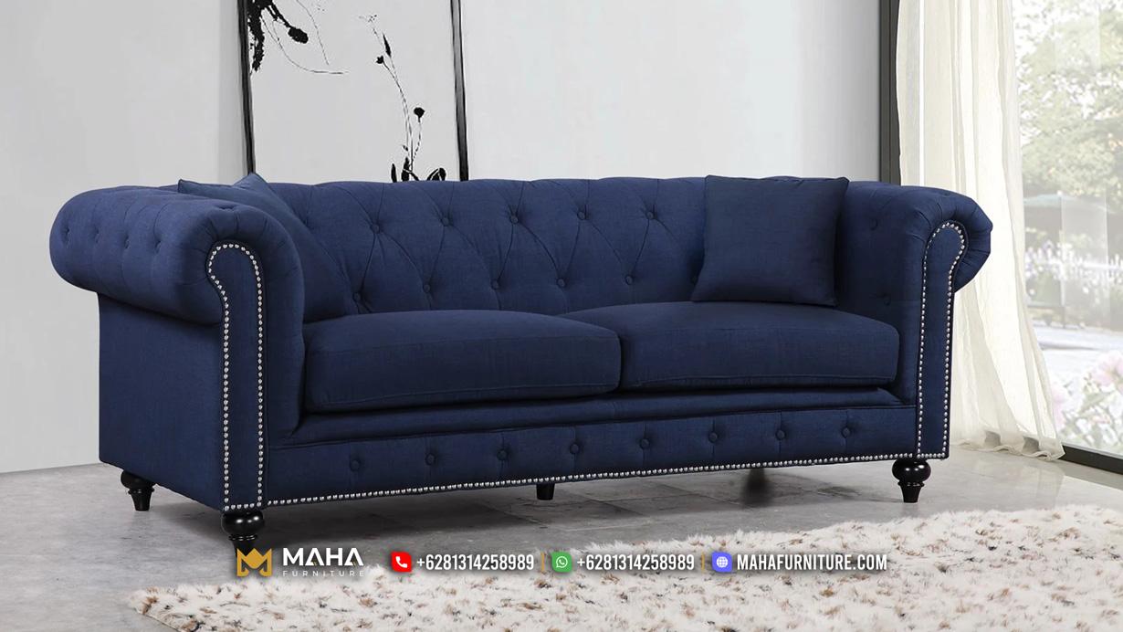 Jual Sofa Jepara Chesterfield Modern Luxury With Navy Azure MF244