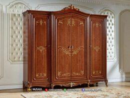 Lemari Pakaian Jati Natural Minimalis Great Solid Wood MF300