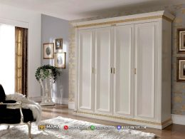 Lemari Pakaian Minimalis 4 Pintu Beauty Shabby Furniture Jepara MF297