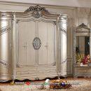 Luxury Style Lemari Pakaian Ukiran Jepara Beauty Silver MF313