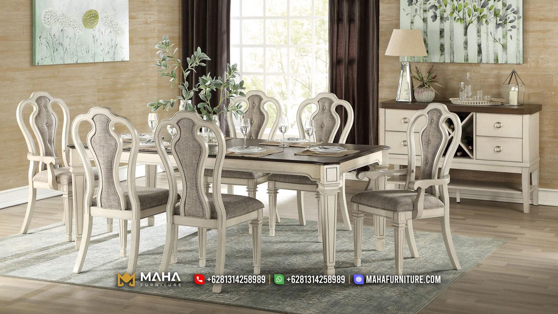 Meja Makan Minimalis Jepara Classic Beauty MF264