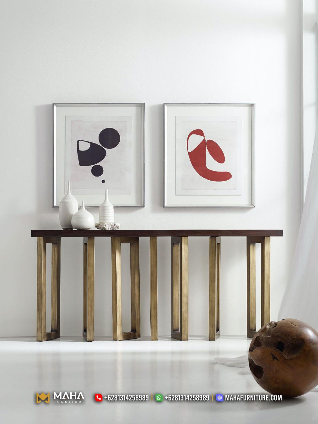 Model Meja Konsul Minimalis Natural Vintage Furniture Jepara MF337
