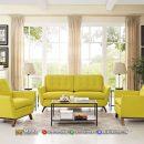 Retro Style Sofa Tamu Minimalis Beauty Yellow Daneen MF253