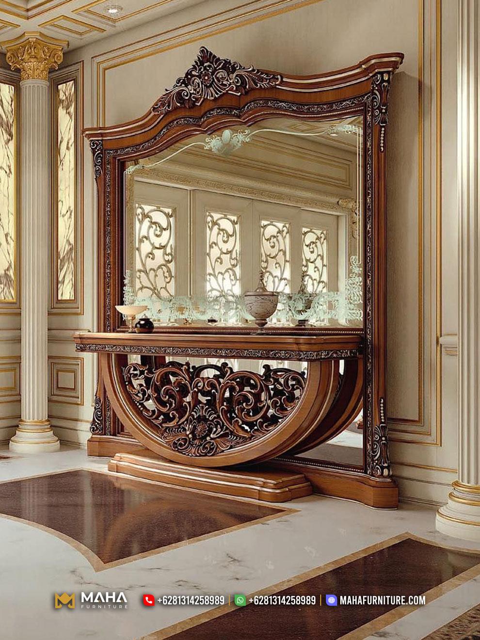 Set Meja Konsul Cermin Hias Klasik Mewah Jepara Elegant MF272