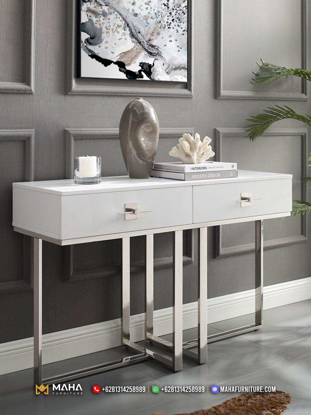 Set Meja Konsul Minimalis Industrial Furniture Jepara Exclusive MF284