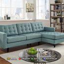 Sofa Sudut Retro Minimalis Jepara Tiffany Blue MF254