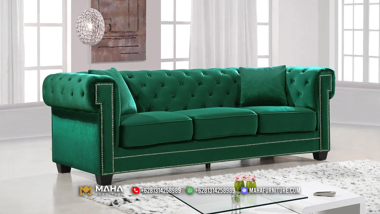 Sofa Tamu Minimalis Jepara Terbaru Green Darice MF245