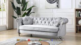 Sofa Tamu Minimalis Terbaru Exclusive Silver Glow MF242