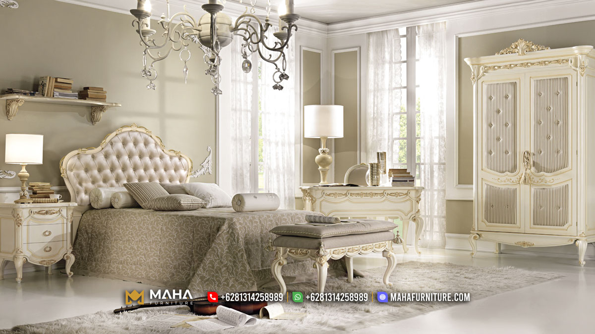 Kamar Set Mewah Terbaru Asli Jepara Elegant Classic Shabby MF344