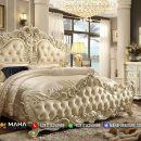 Popular Tempat Tidur Mewah Terbaru White Duco Clear Glossy MF347