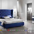 Tempat Tidur Mewah Blue Navy Elegant 100% Hight Quality MF338