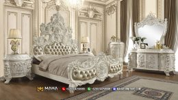 Tempat Tidur Sultan Ukiran Mewah Kingdom Luxury Shabby MF343