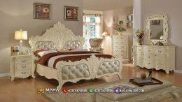 Tempat Tidur Terbaru Ukiran Jepara Duco White Elegant MF340