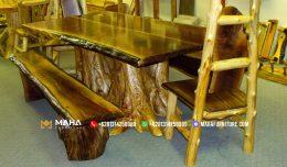 kursi taman kayu jati minimalis